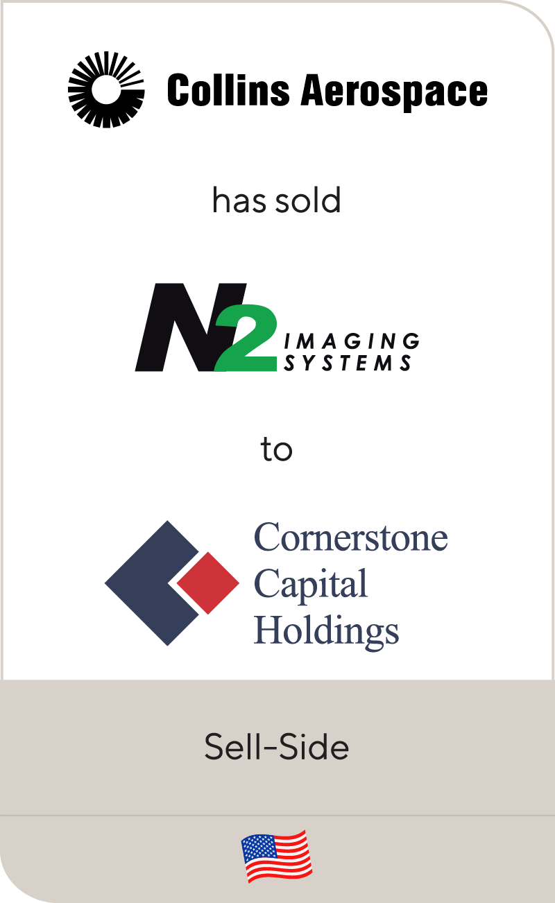 Collins Aerospace has sold N2 Imaging Systems to Cornerstone Capital Holdings
