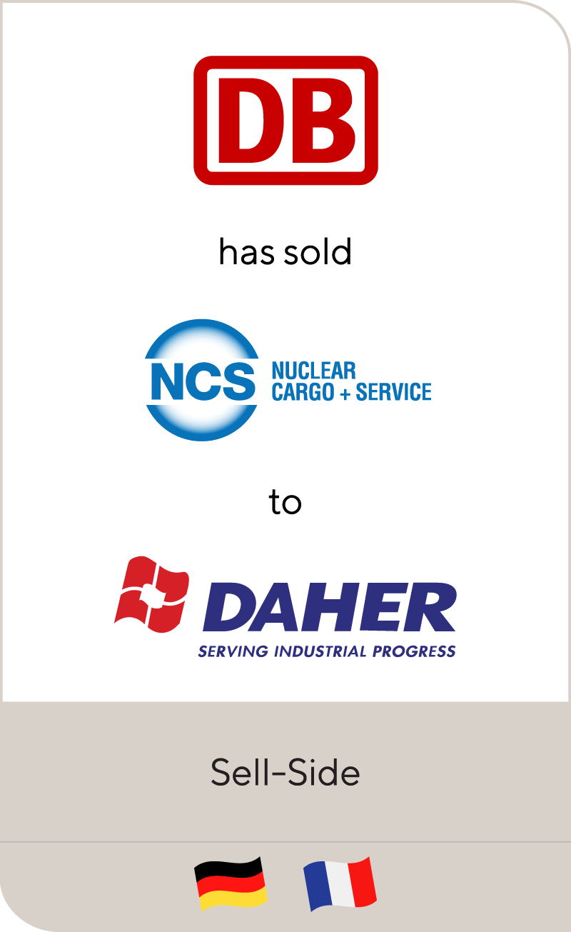 Deutsche Bahn has sold Nuclear Cargo + Services to Compagnie DAHER