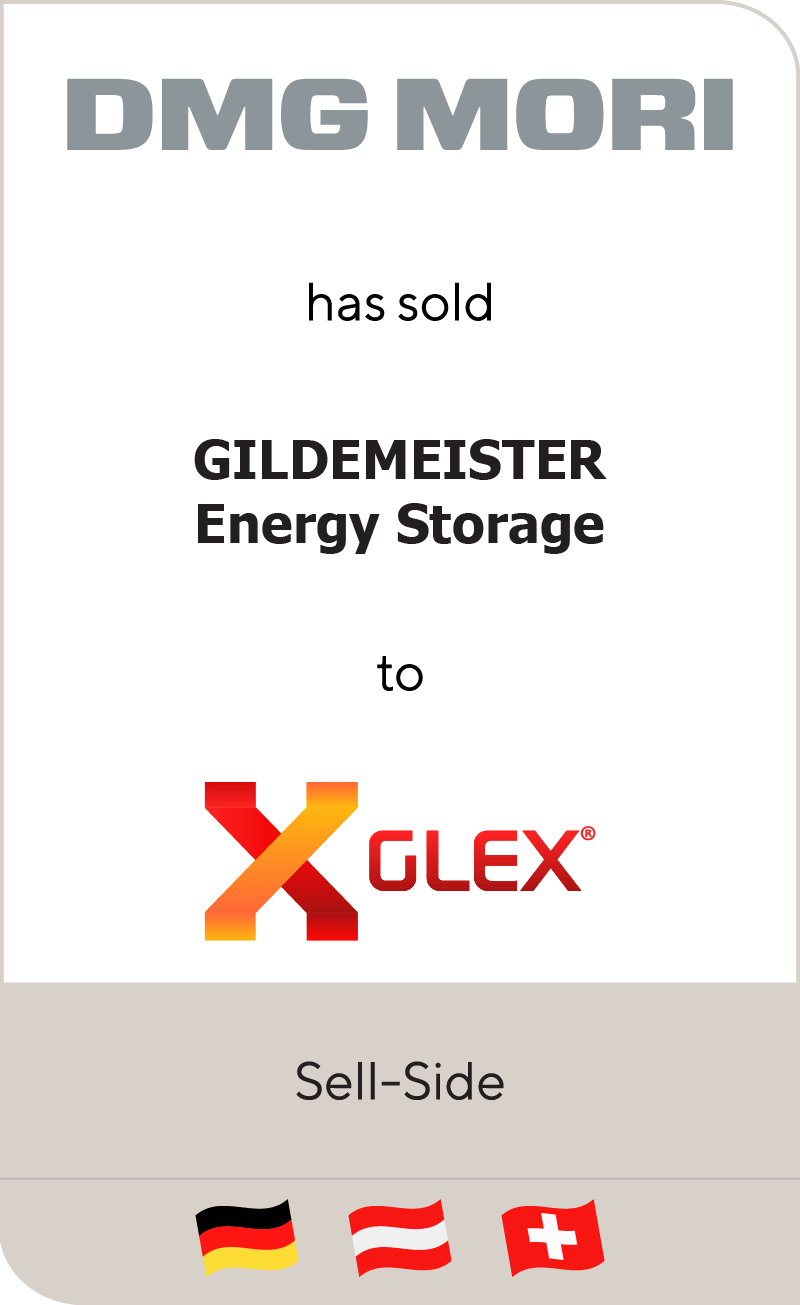 DMG Mori has sold GILDEMEISTER energy storage to Glex