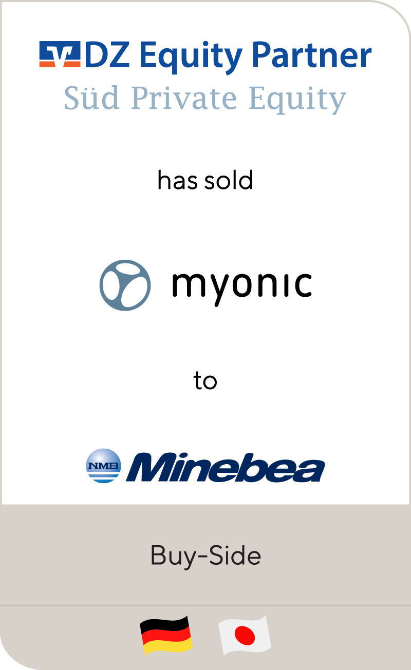DZ Equity Partner_SUD Private Equity_Myonic_Minebea
