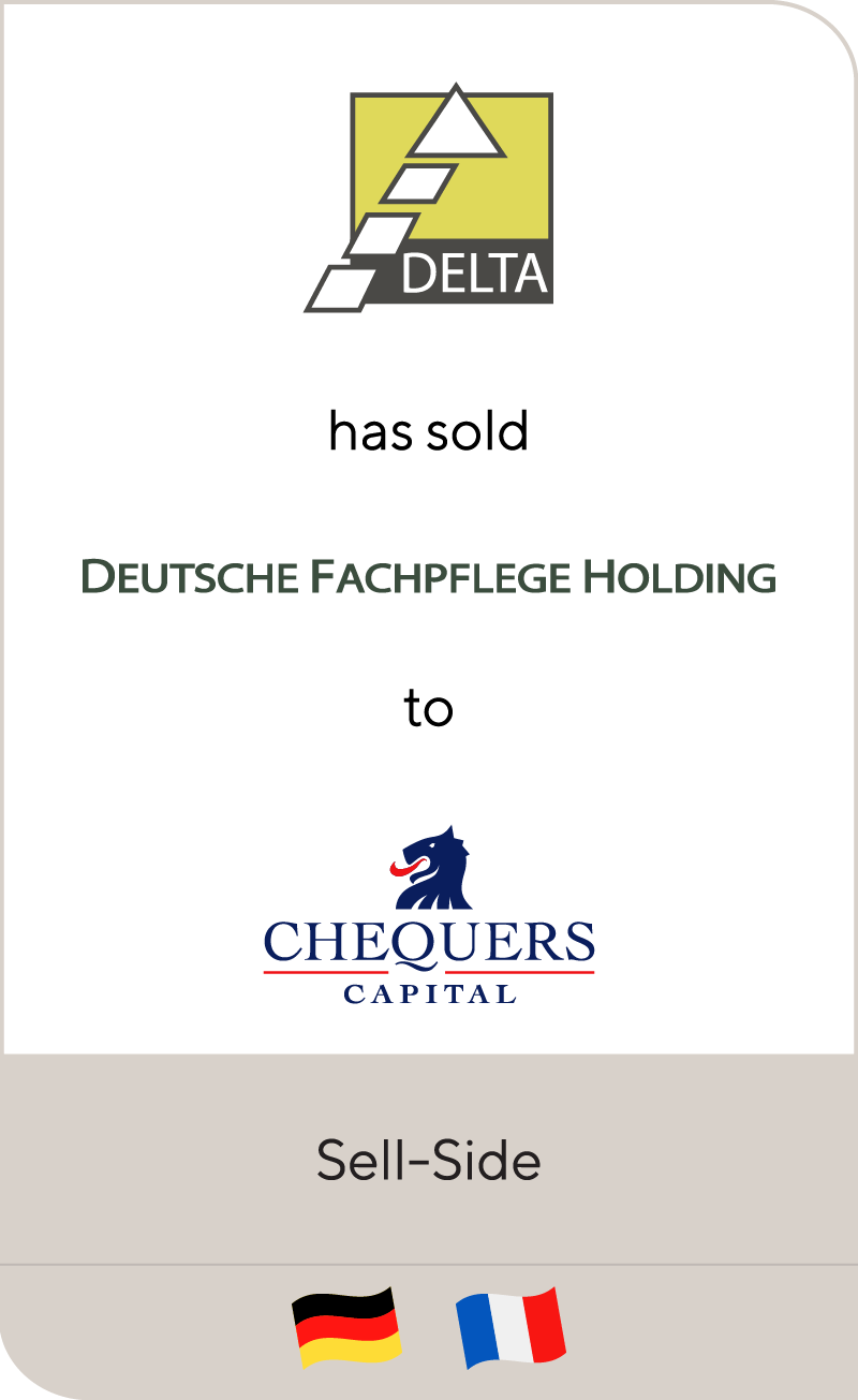 DELTA has sold Deutsche Fachpflege Holding to Chequers Capital