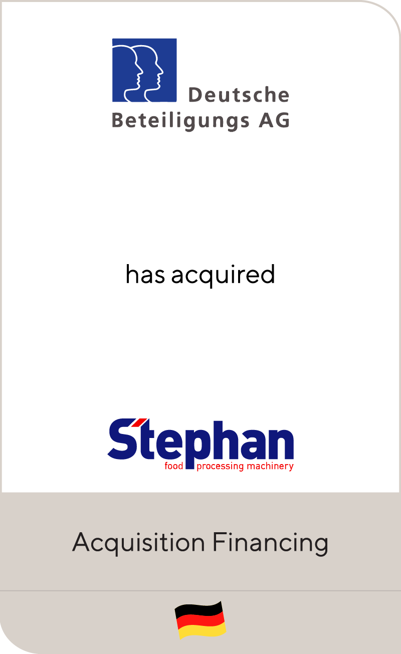 Deutsche Beteiligungs has acquired Stephan Machinery