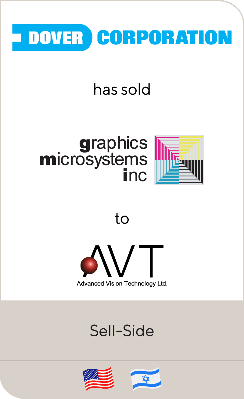 Dover Corporation has sold Graphics microsystems, Inc. to Advanced Vision Technology, Ltd.