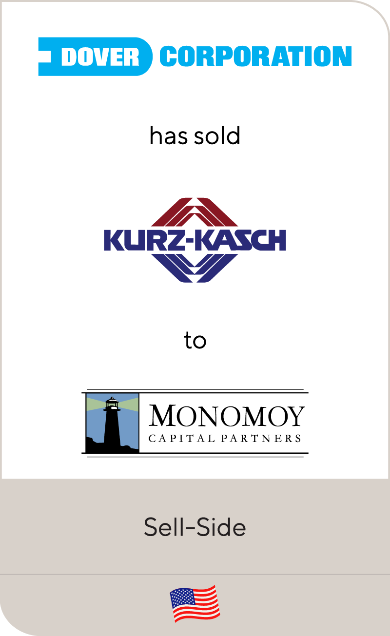 Dover Corporation has sold Kurz-Kasch to Monomoy Capital Partners