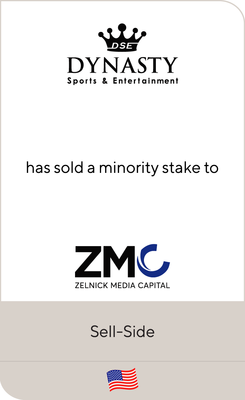Dynasty Sports & Entertainment has secured a growth investment from ZMC