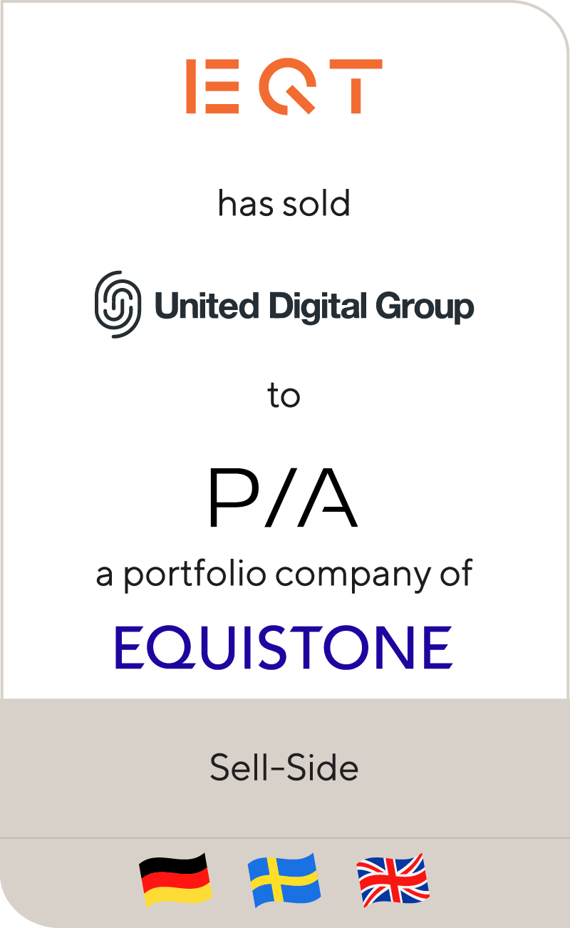EQT has sold United Digital Group to Performance Interactive Alliance, a portfolio company of Equistone