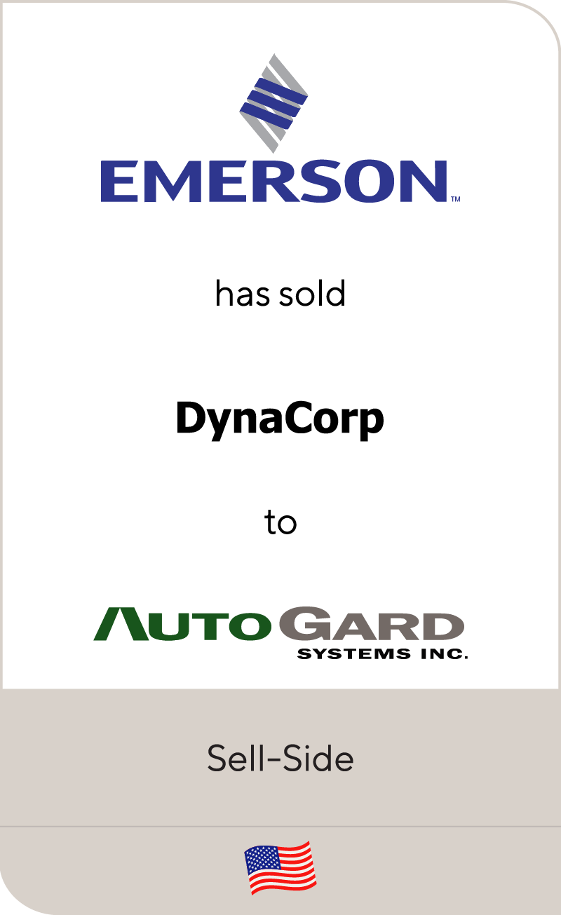 Emerson has sold Dynacorp to Autogard