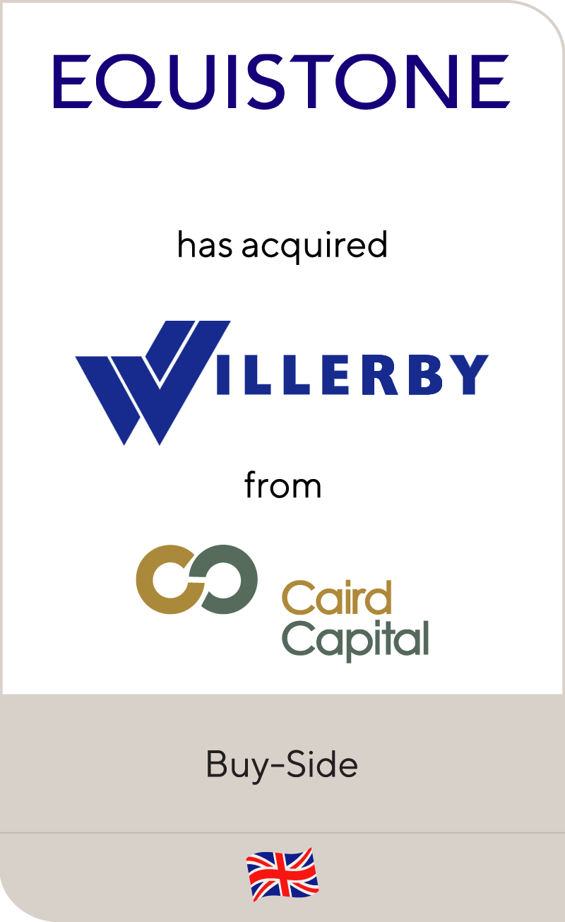 Equistone Partners Europe has acquired Willerby Group from Caird Capital
