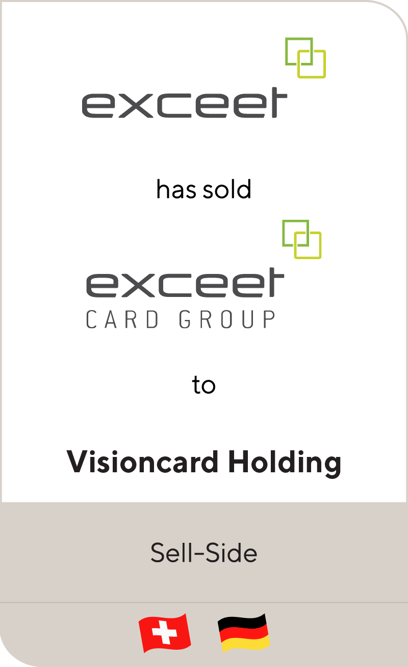 Exceet has sold Exceet Card Group to Vinsioncard
