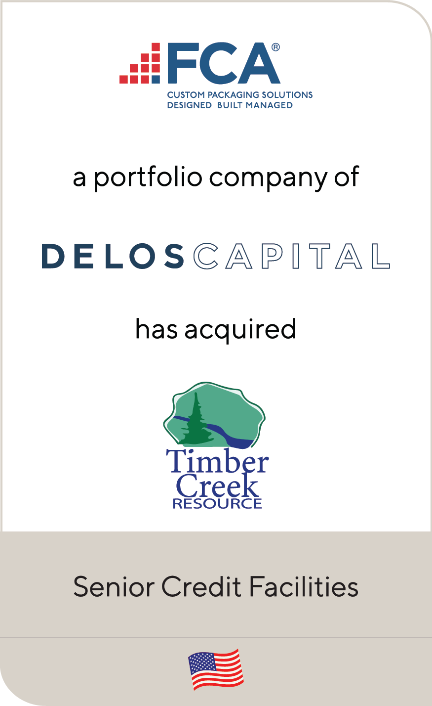 FCA Packaging Delos Capital Timber Creek 2021