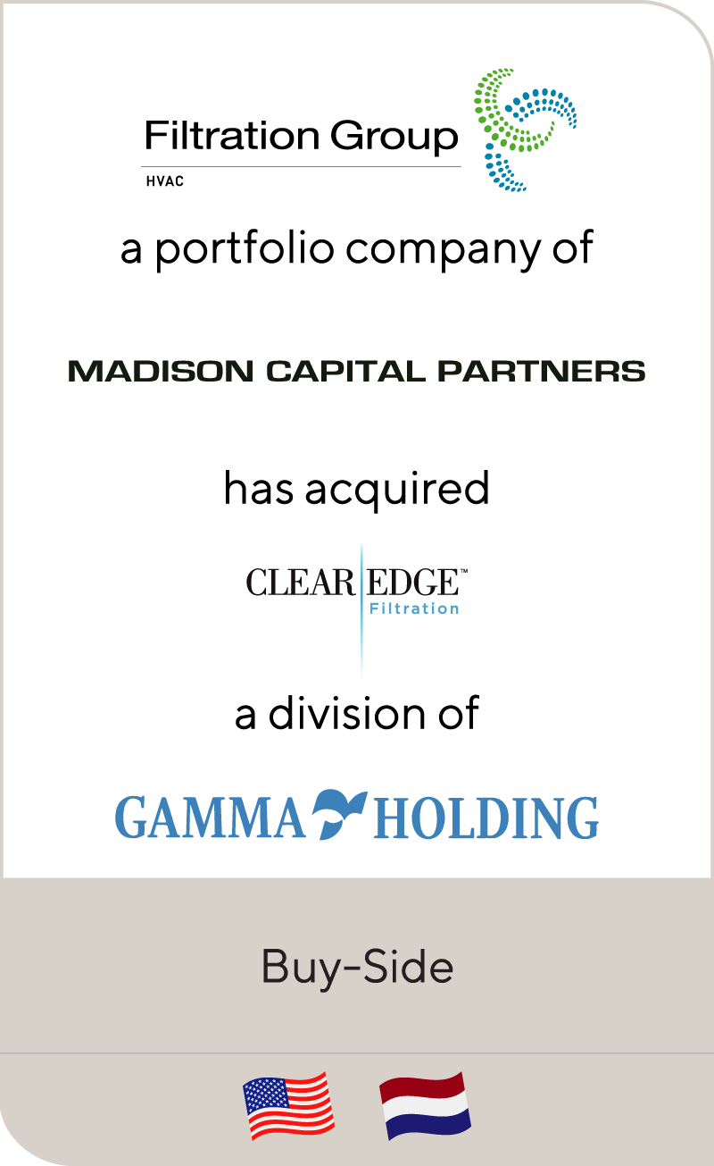 Madison Capital Partners' has acquired Clear Edge Filtration