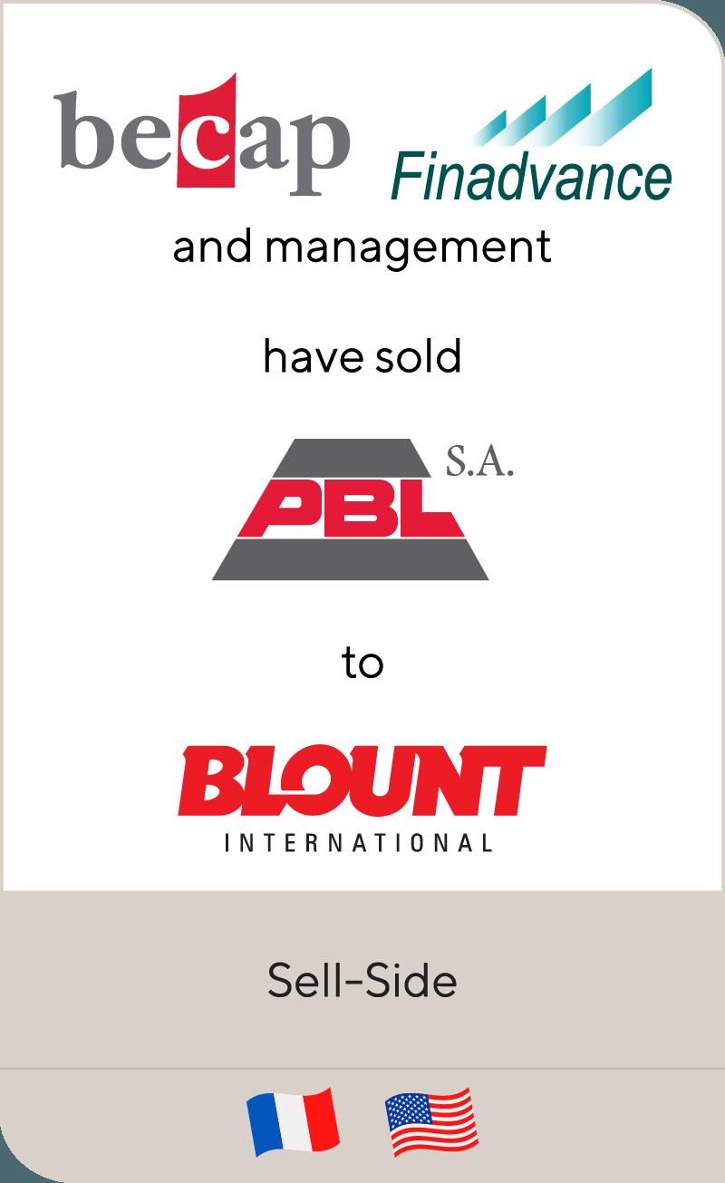 Finadvance Becap PBL SA Blount International 2011