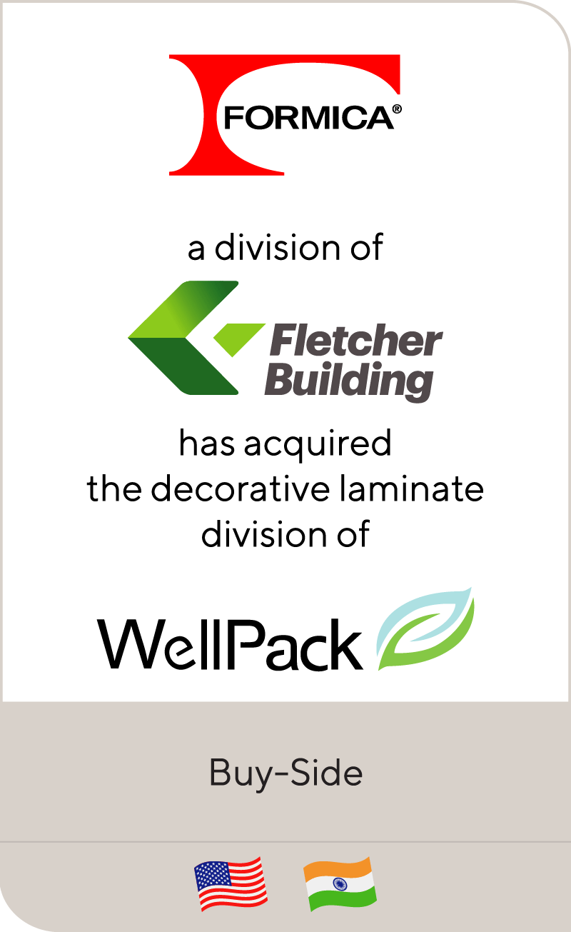 Formica, a division of Fletcher Building, has acquired the decorative laminate manufacturing division of Well Pack