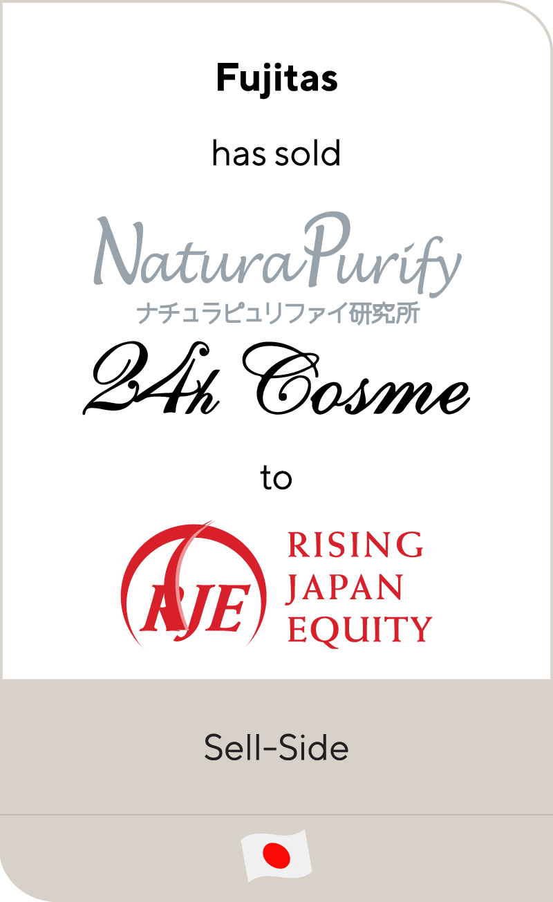 "RAJA Group has sold NaturaPurify's organic cosmetics brand ""24th Cosme"" to Rising Japan Equity"