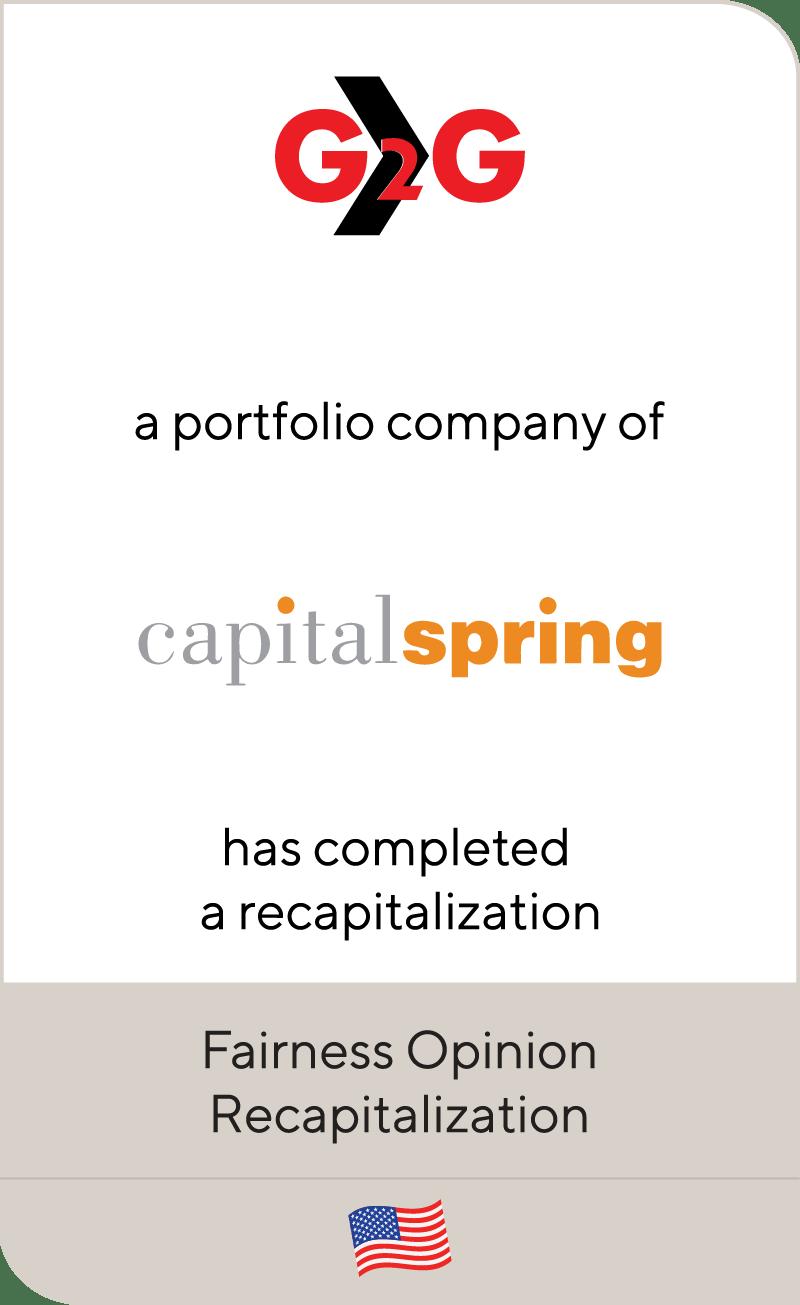 G2G Capital Spring 2019