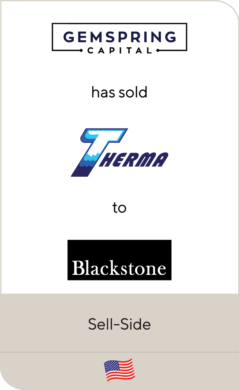 Gemspring Capital Therma Blackstone 2020