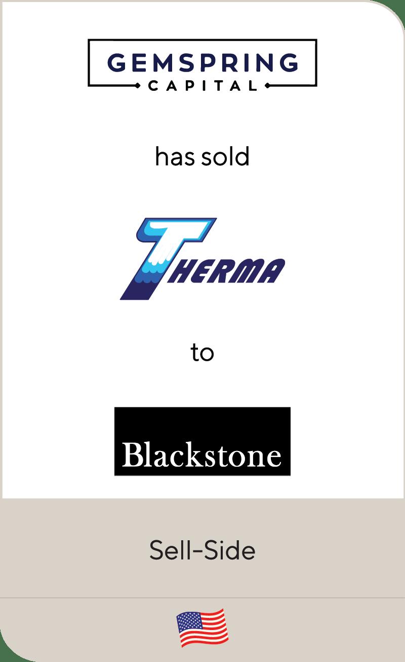 Gemspring Capital Therma Blackstone 2020