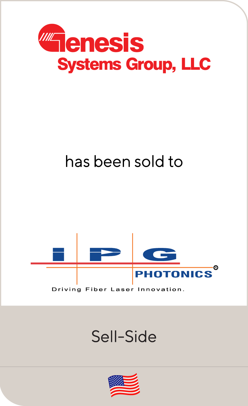 Genesis Systems Group has been sold to IPG Photonics