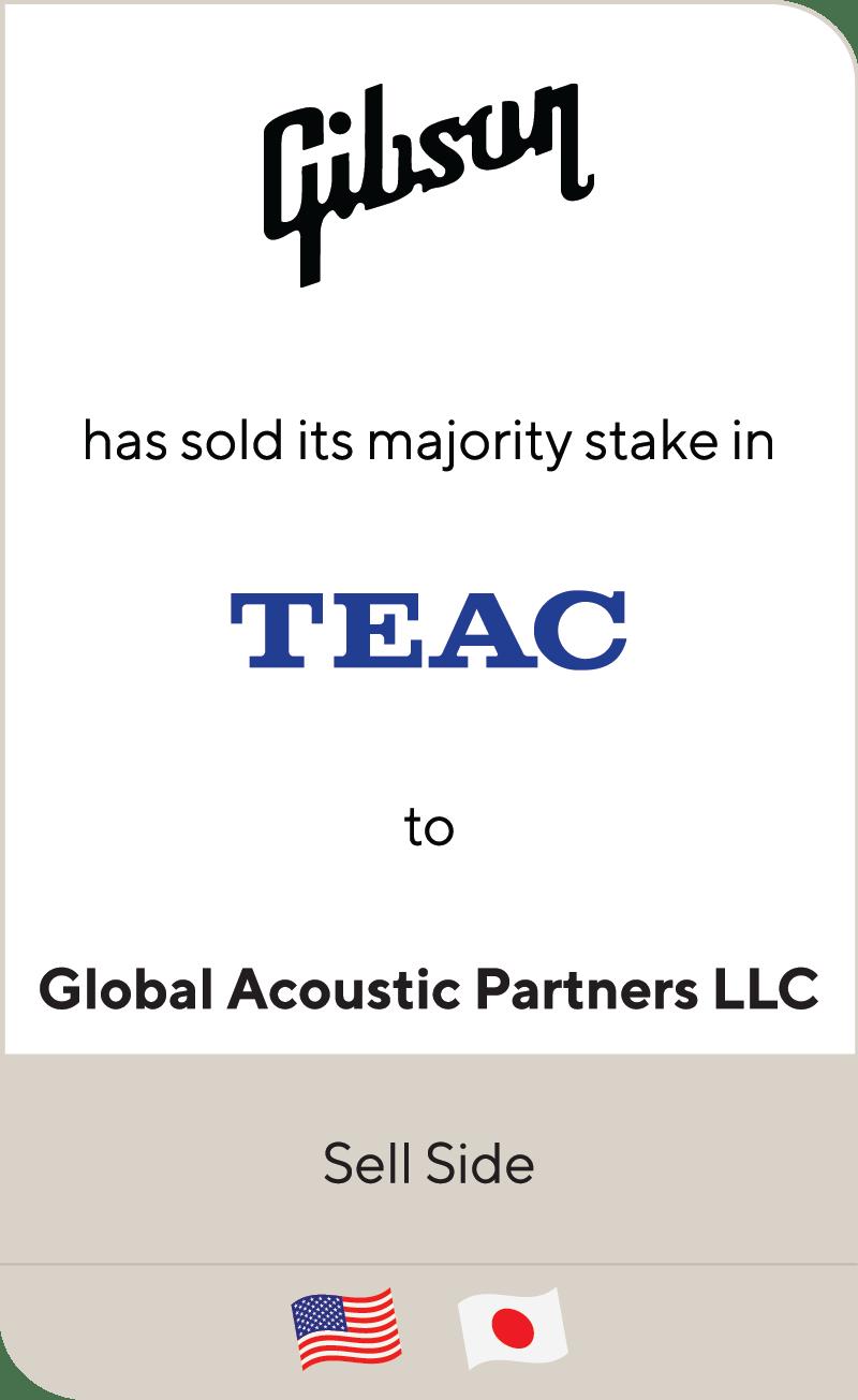Gibson Brands TEAC Global Acoustic Partners LLC 2020