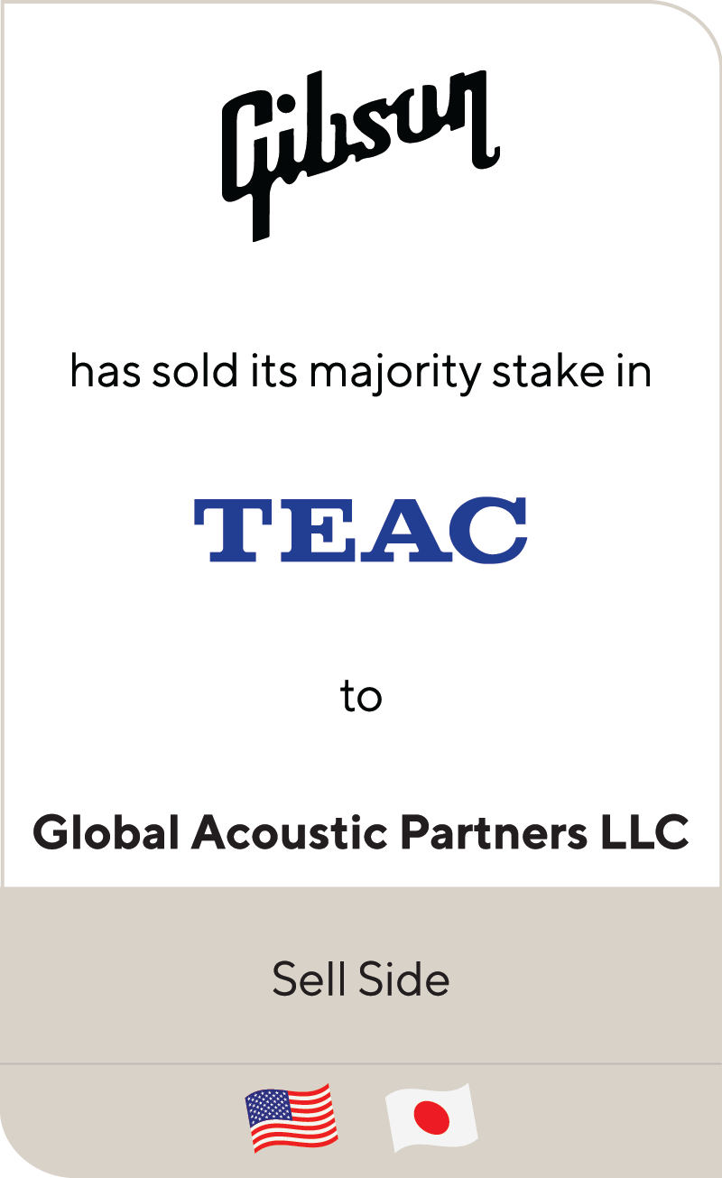 Gibson Brands TEAC Global Acoustic Partners LLC 2020