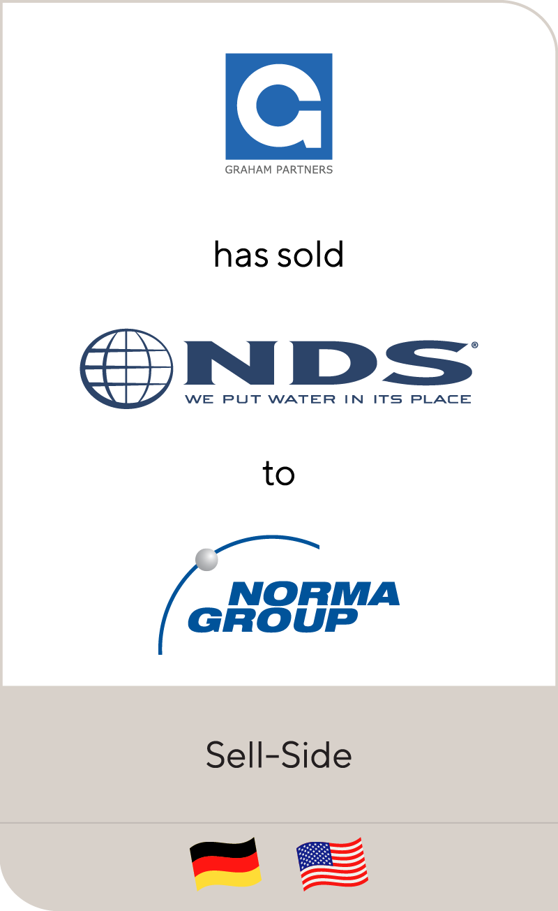 Graham Partners has sold NDS to Norma Group