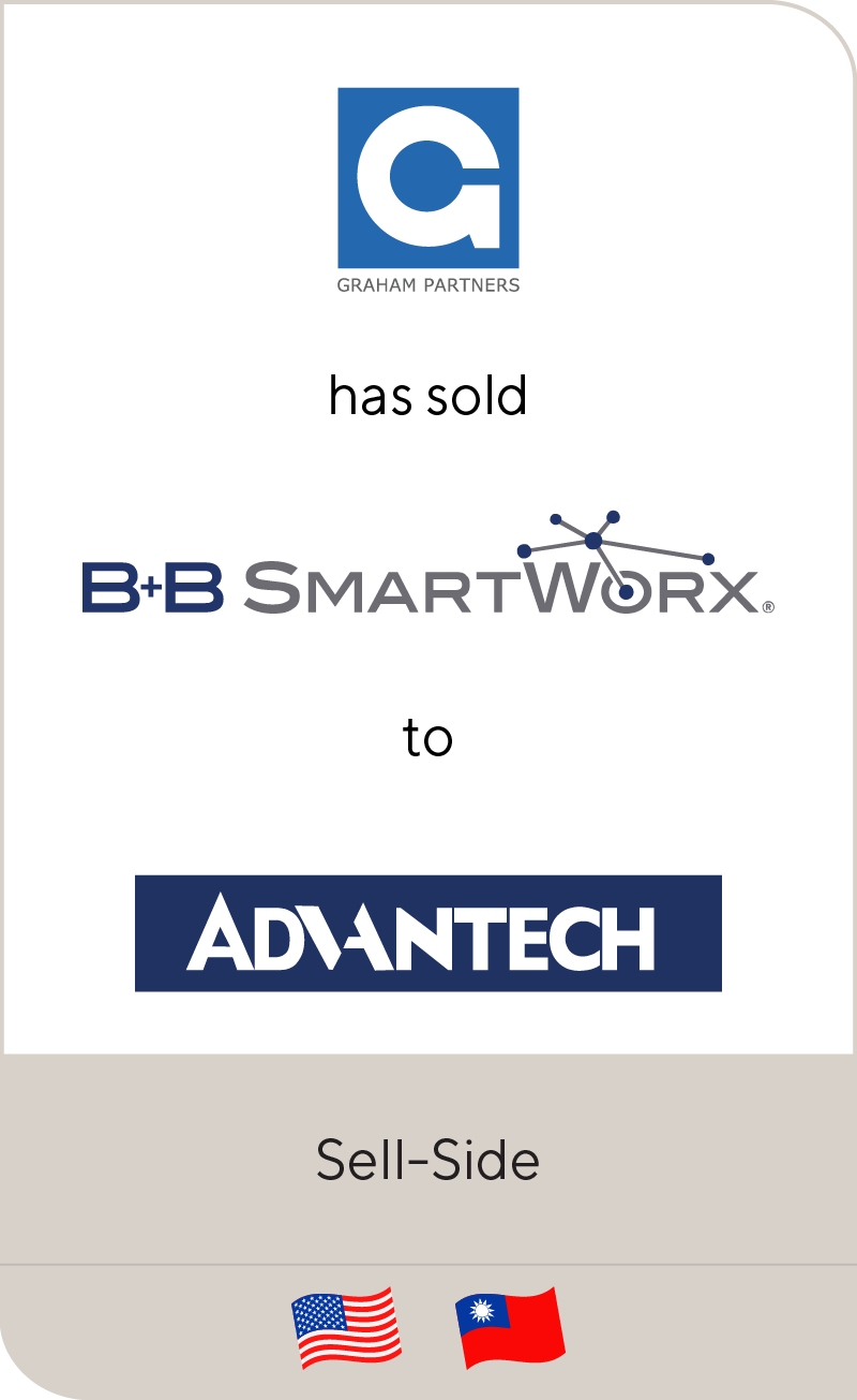 GrahamPartners has sold B+BSmartworx to Advantech