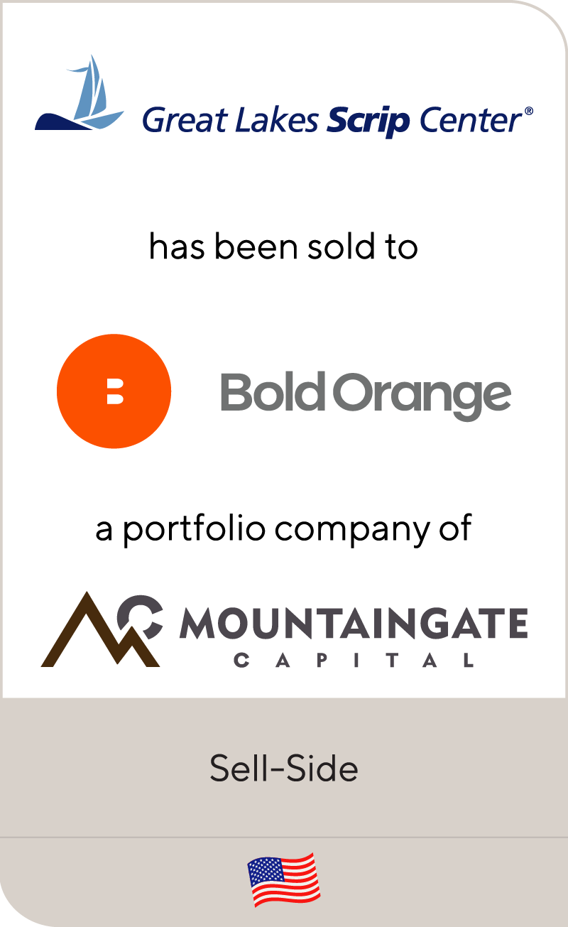 Great Lakes Scrip Center has been sold to Bold Orange a portfolio company of Mountaingate Capital