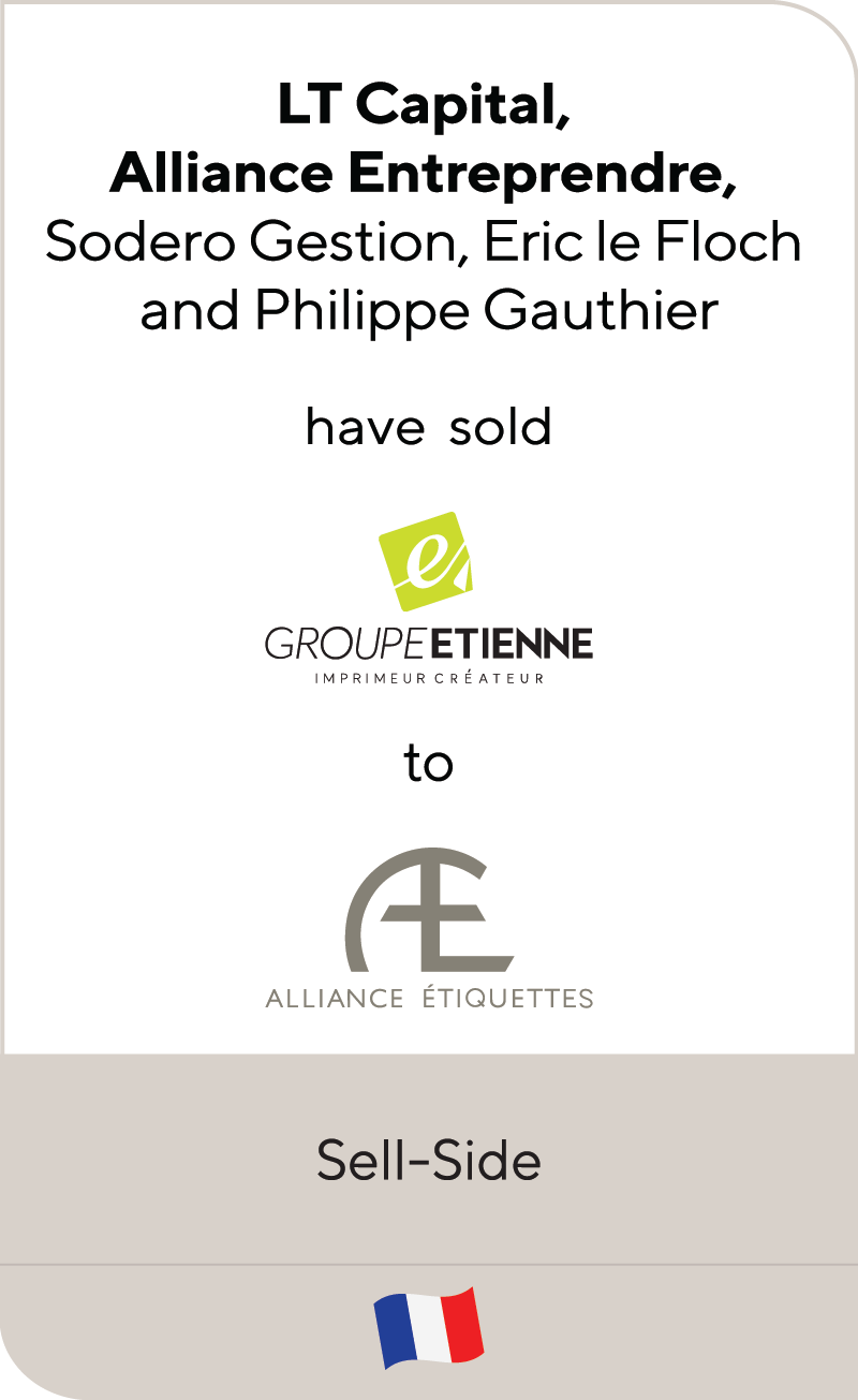 Groupe Etienne has been sold to Alliance Etiquettes