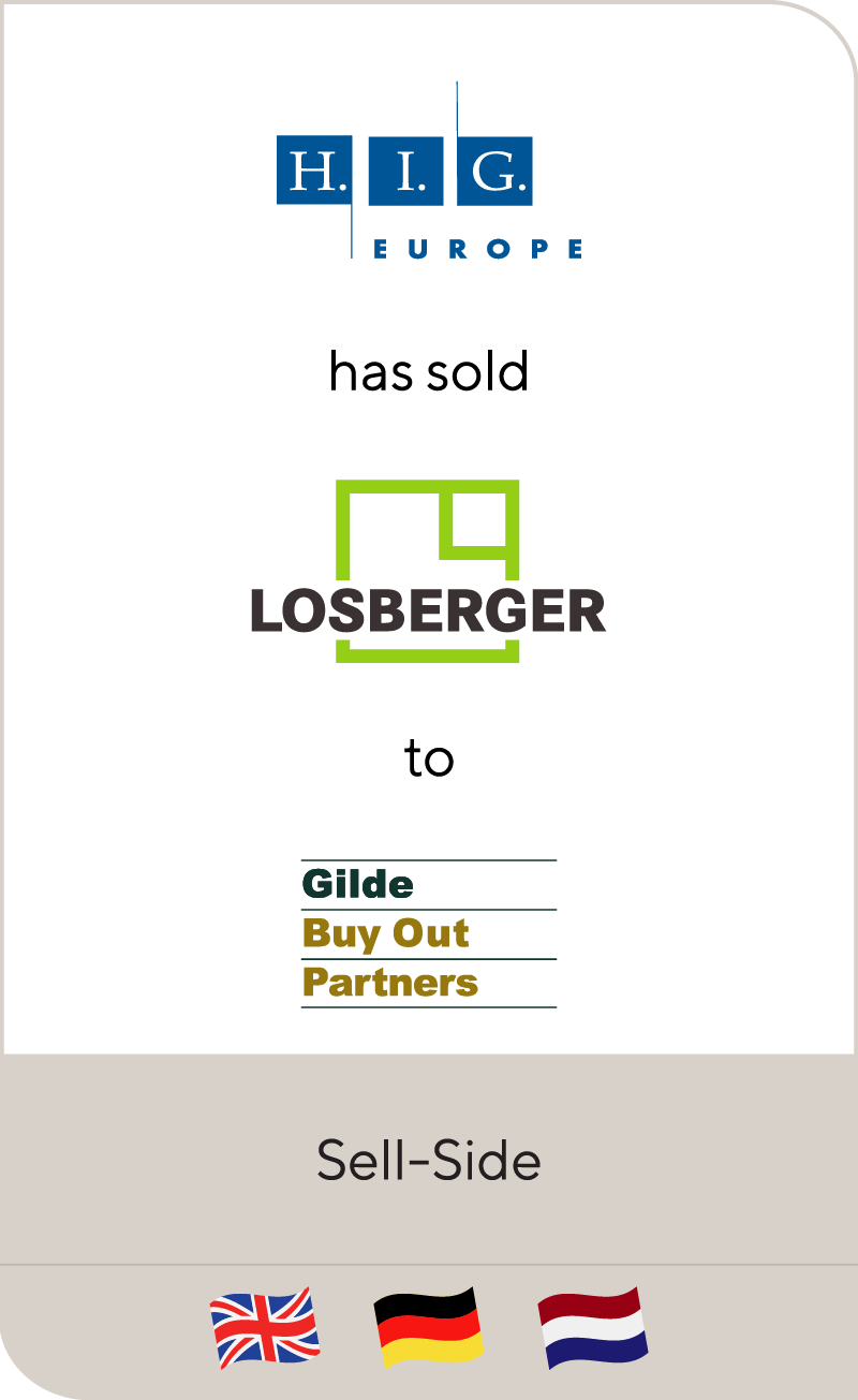 H.I.G. Capital has sold Losberger GmbH to Gilde Buy Out Partners