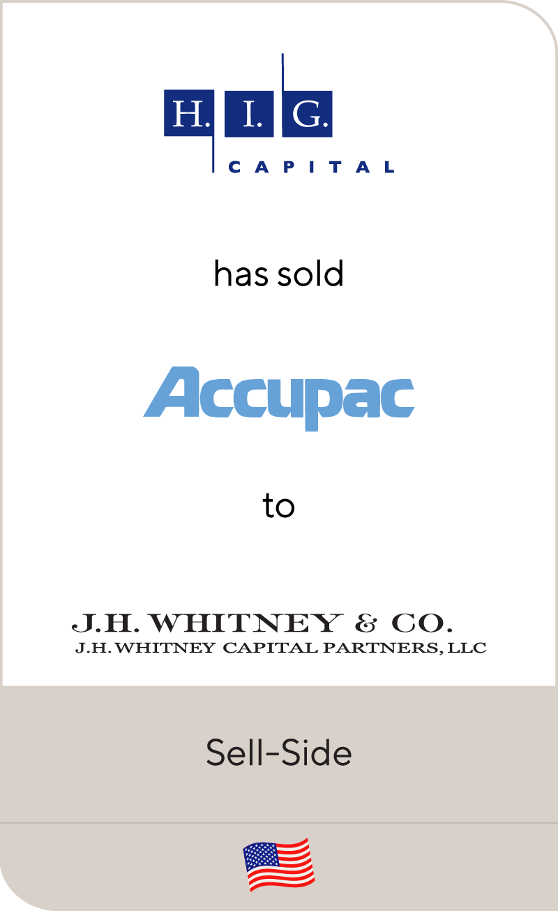 HIG has sold Accupac to JH Whitney Co.