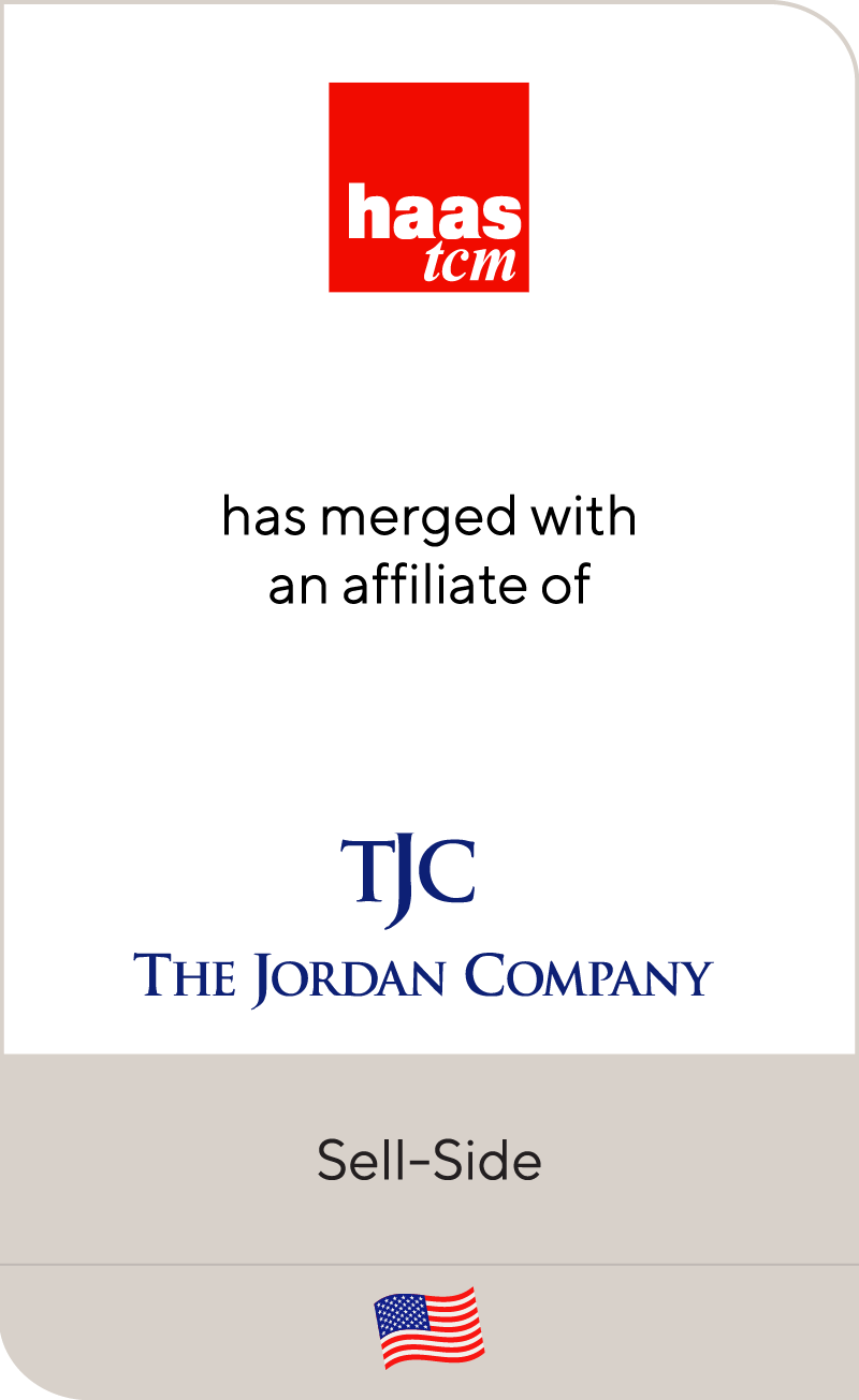 HAAS TCM has merged with an affiliate of The Jordan Company