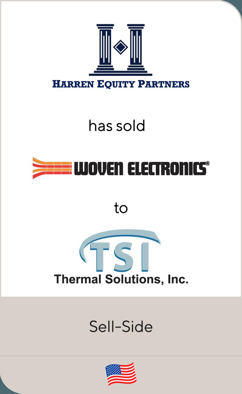 Harren Equity Partners has sold Woven Electronics to TSI