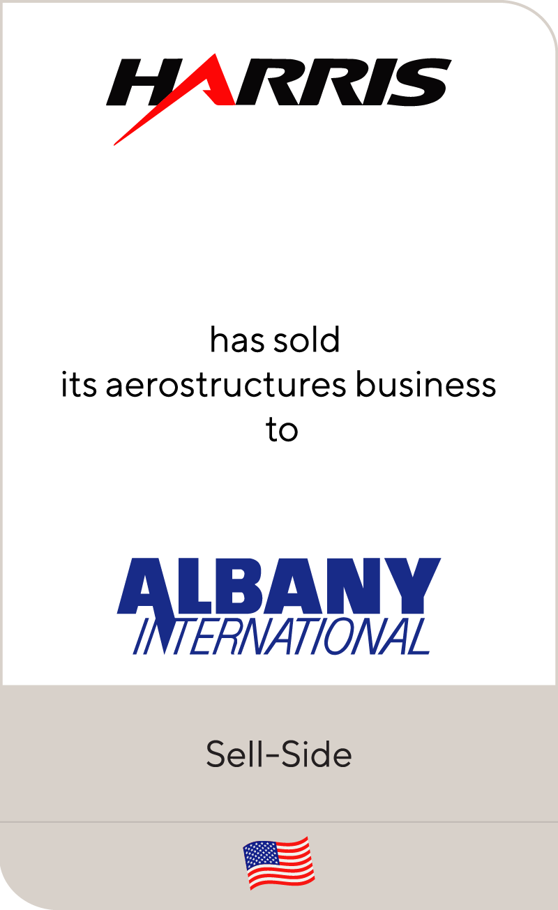 Harris Corporation has sold its aerostructures business to Albany International