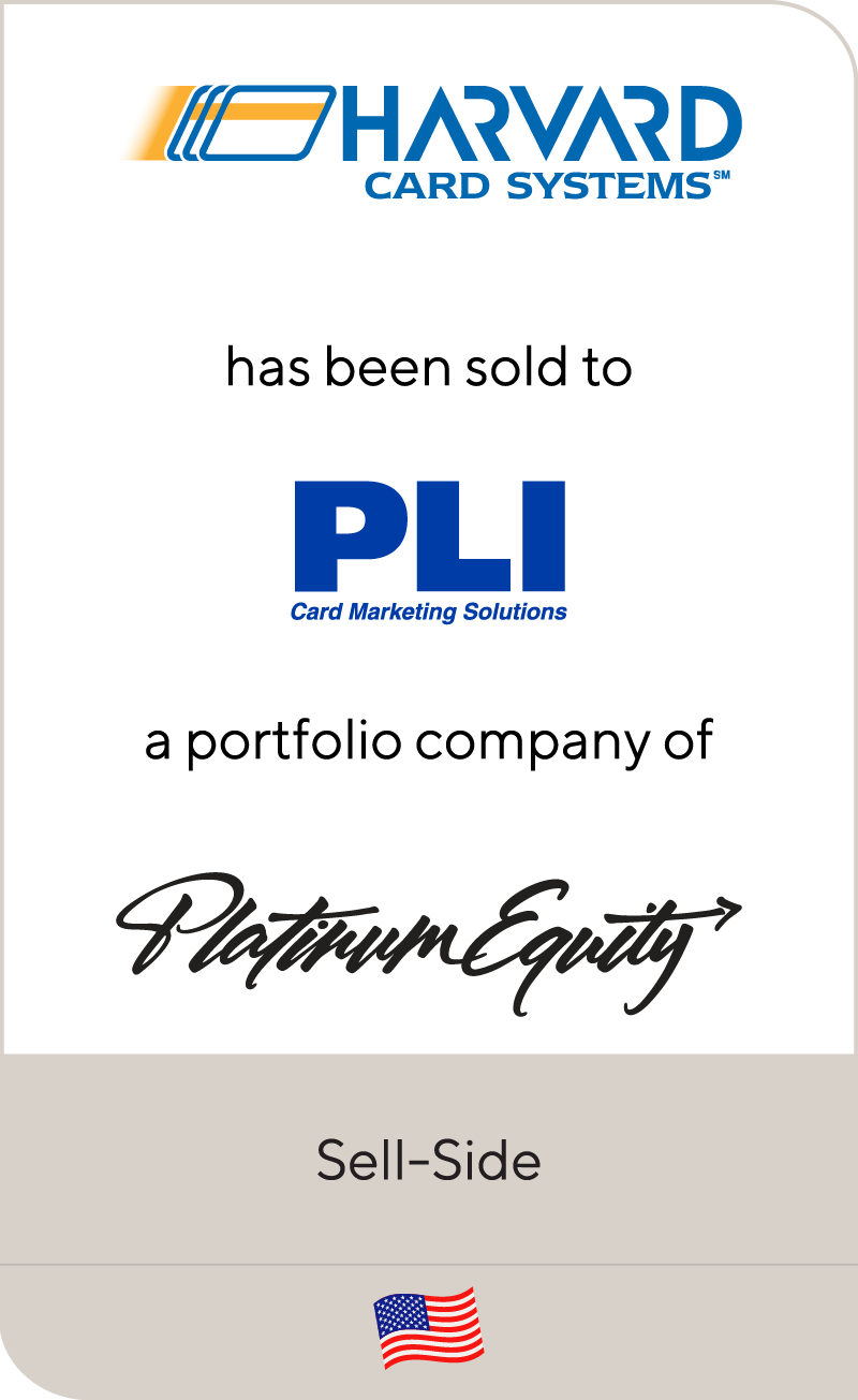 Harvard Card Systems has been sold to PLI Card Marketing Solutions
