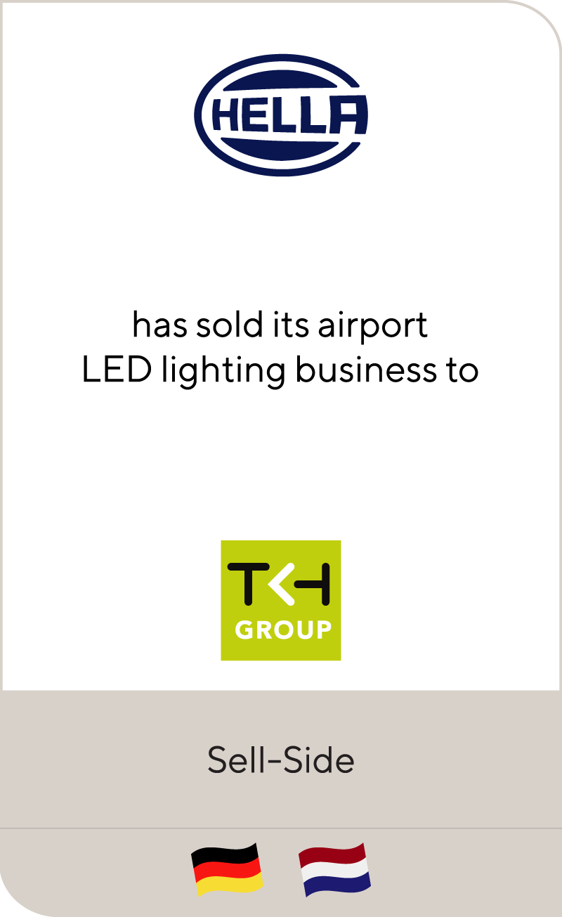 HELLA Group has sold its airport LED lighting activities to TKH Group