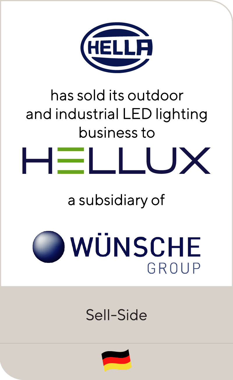 HELLA Group has sold its innovative LED outdoor and industrial lighting business to Wünsche Group
