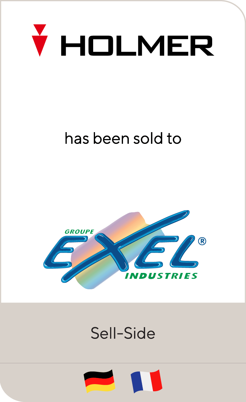 Holmer-Group has been sold to Exel Industries