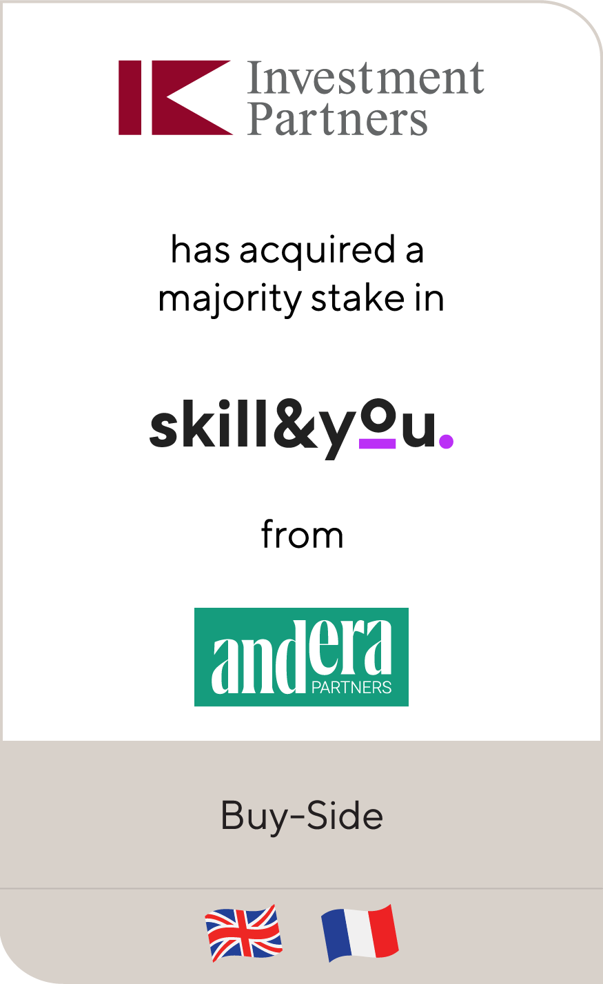 IK Investment Partners Skill & You Andera 2021