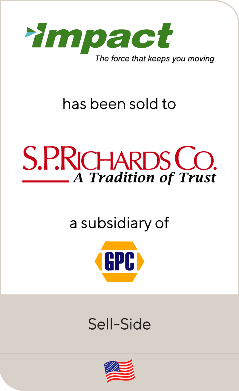 Impact has been sold to SPRichards a subsidiary of GPC
