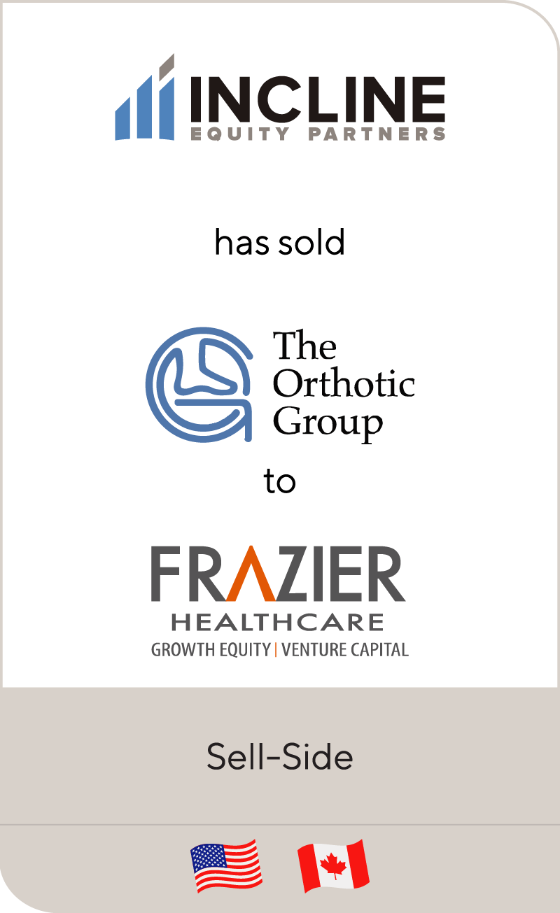 Incline Equity Partners has sold Orthotic Holdings to Frazier Healthcare