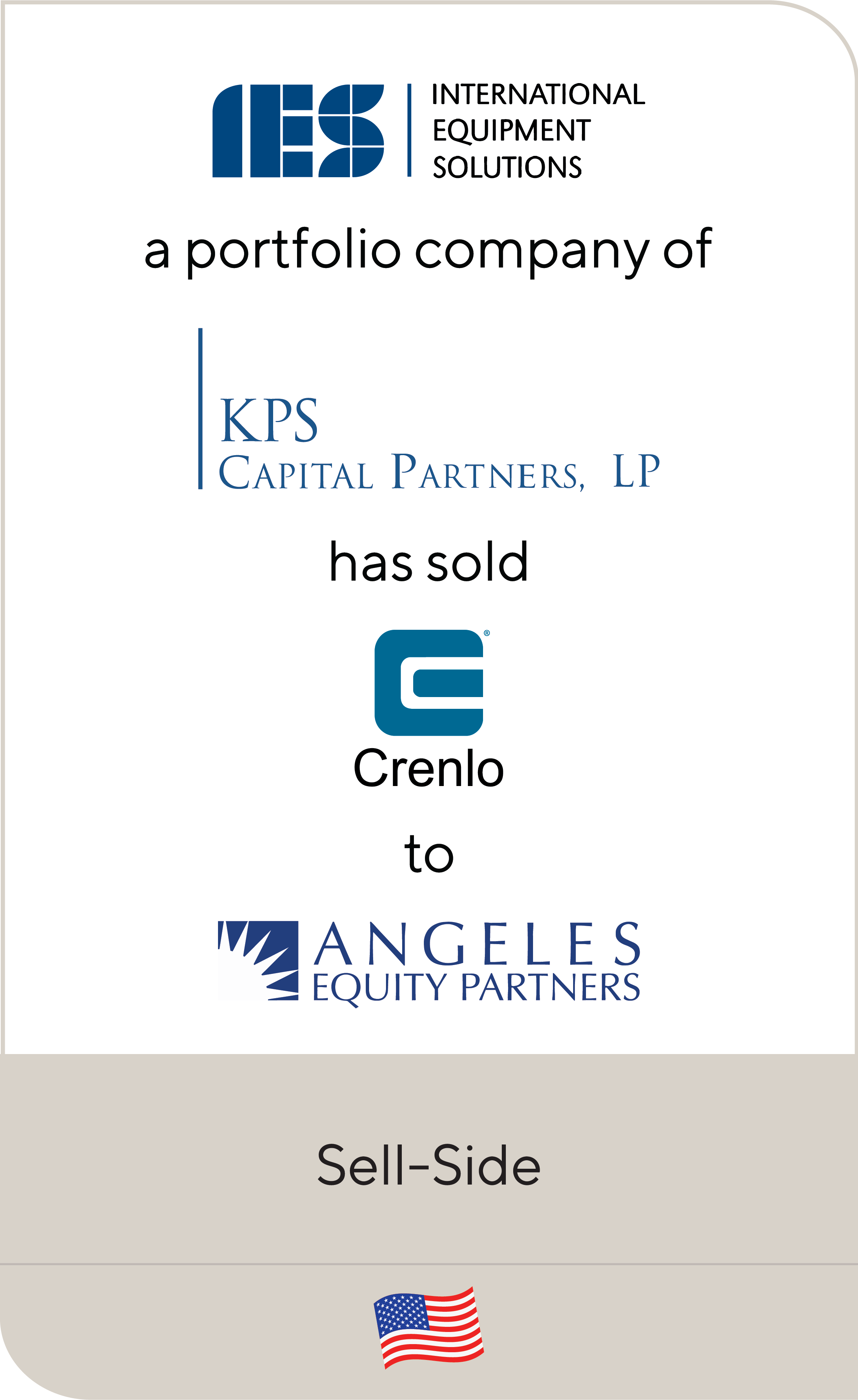 International Equipment Solutions (IES) KPS Capital Partners Crenlo Angeles Equity Partners 2019