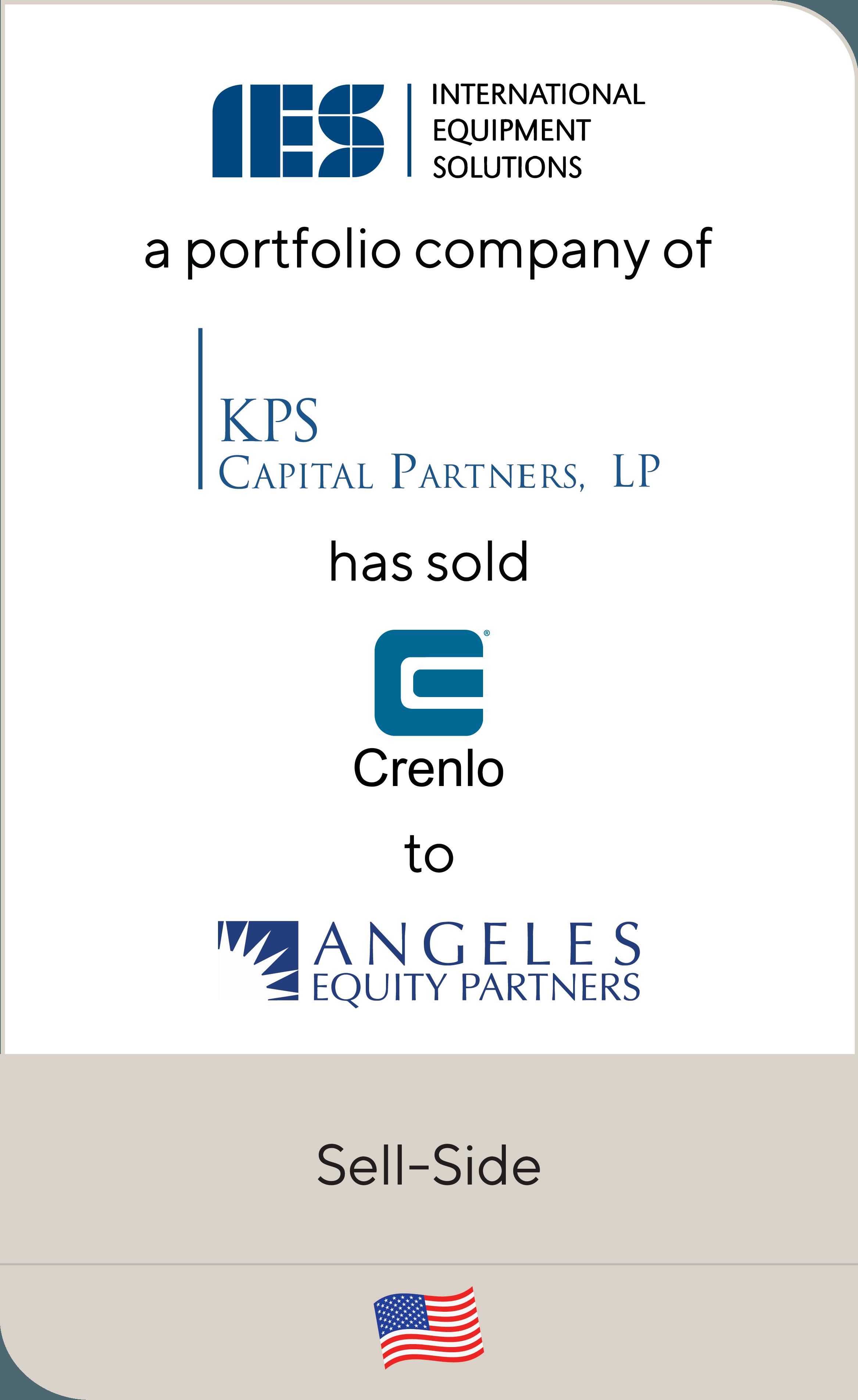 International Equipment Solutions (IES) KPS Capital Partners Crenlo Angeles Equity Partners 2019
