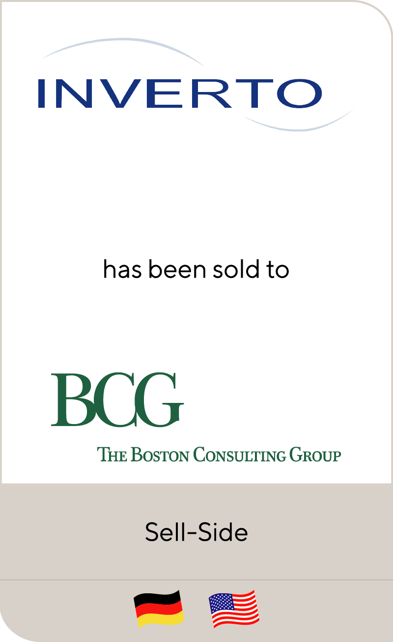 Inverto has been sold to The Boston Consulting Group
