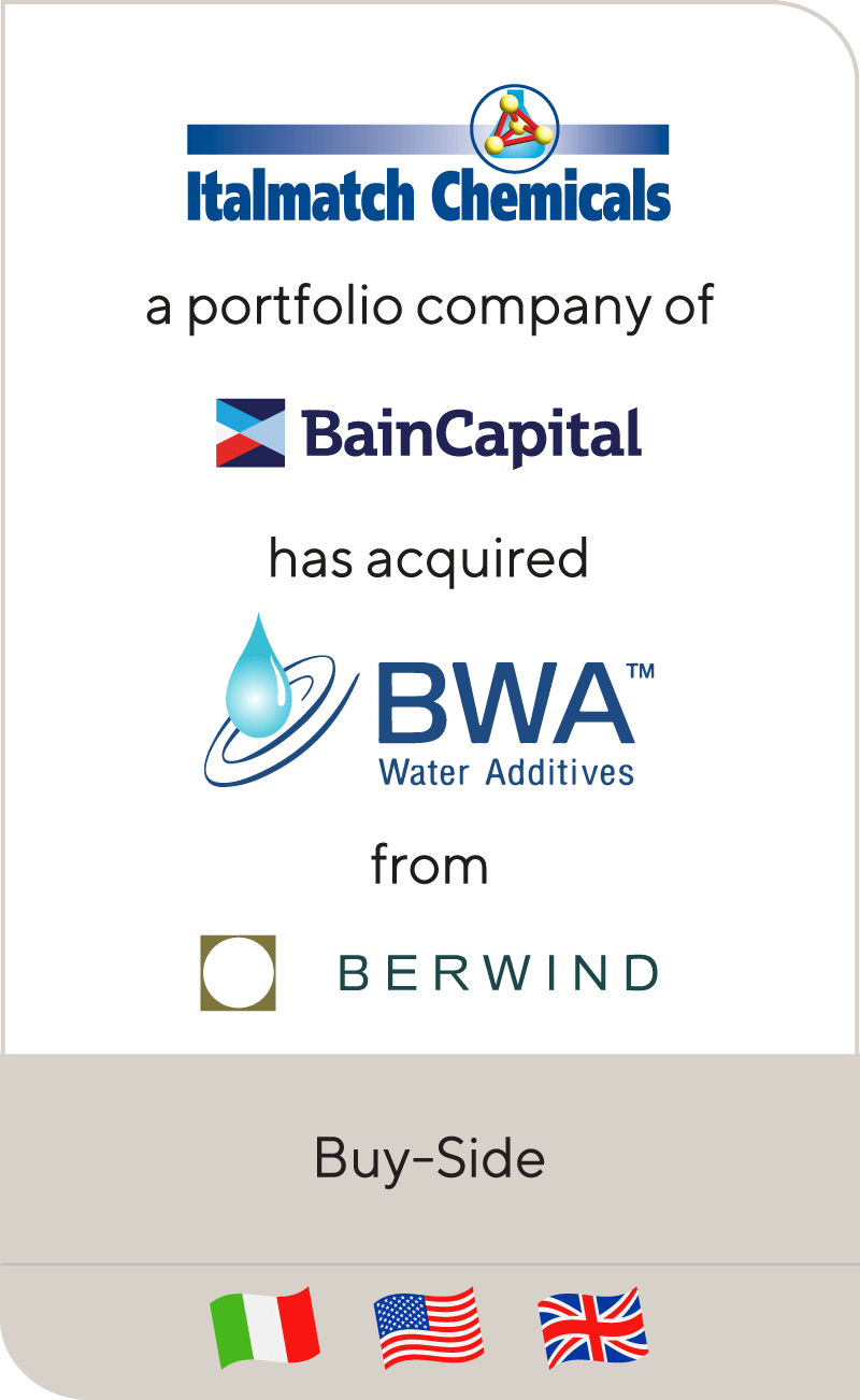 Italmatch Bain Capital BWA Water Additives Berwind 2018