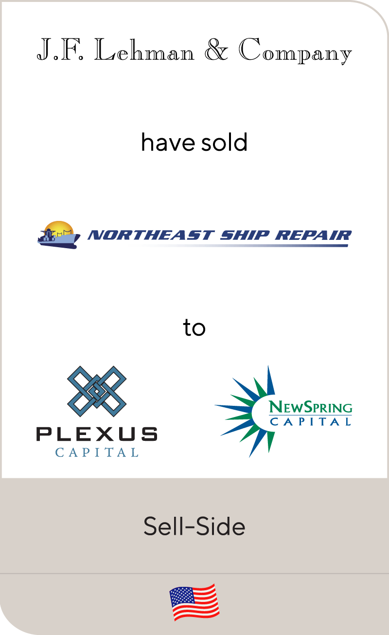 J.F. Lehman & Company has sold Northeast Ship Repair to Plexus Capital and NewSpring Capital