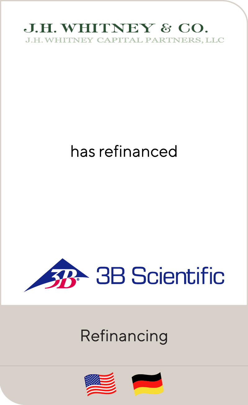J.H. Whitney & Co. has refinanced 3B Scientific