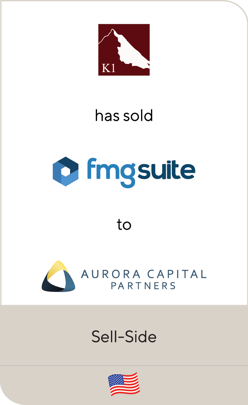 K1 FMGsuite Aurora Capital Partners 2020