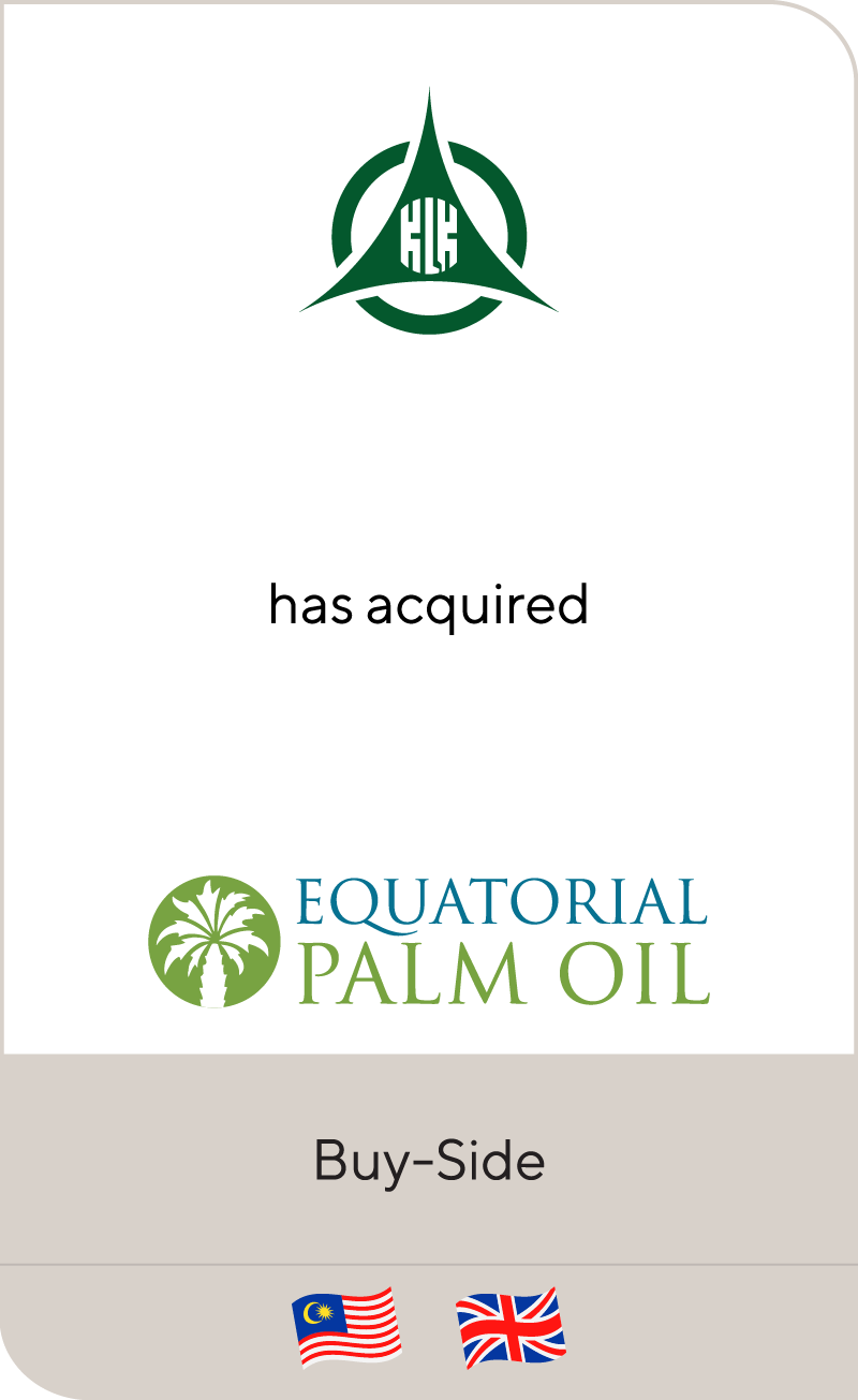 Kuala Lumpur Kepong Berhad has acquired Equatorial Palm Oil