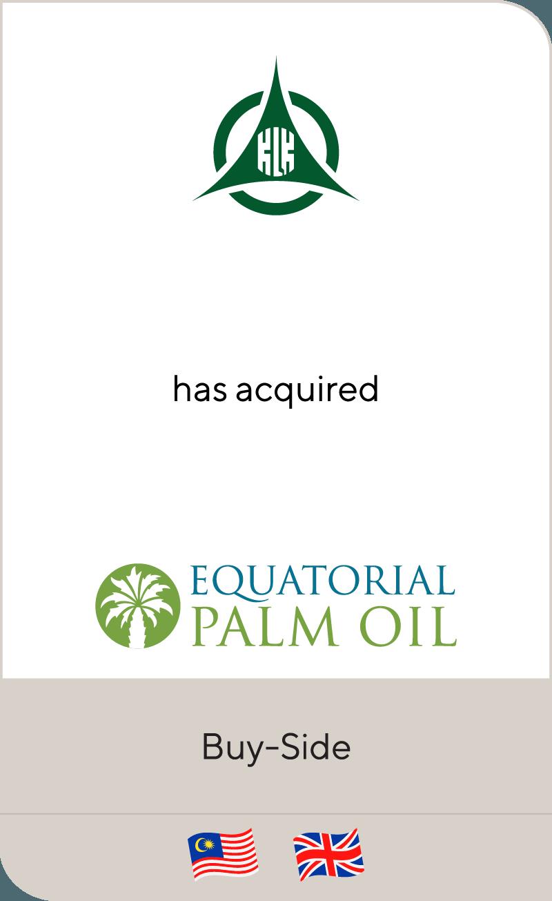 Kuala Lumpur Kepong Berhad has acquired Equatorial Palm Oil