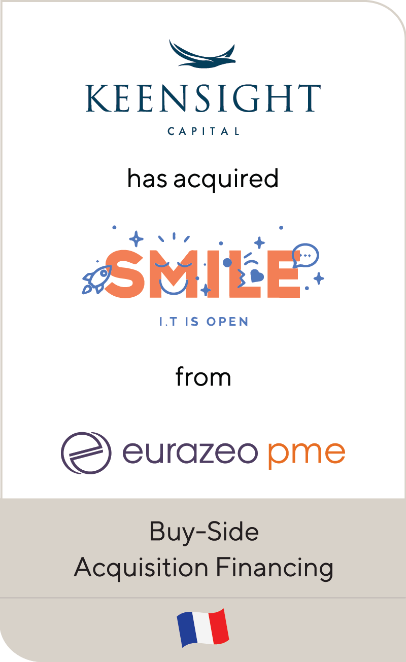 Keensight Capital Smile Eurazeo PME 2019